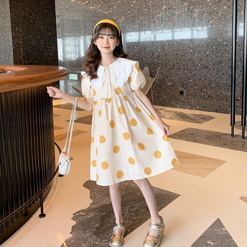 大女童连衣裙夏装2021新款童装网红洋气夏季小女孩公主裙儿童裙子