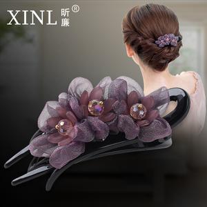 夹子后脑勺成年女韩国花朵鸭嘴夹