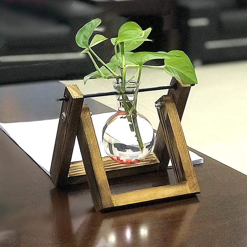 オリジナリティあるロサンゼルスの花瓶がガラスの可愛いミニデスクトップの小さな花瓶オフィスの花瓶を飾って、生け花を栽培します。