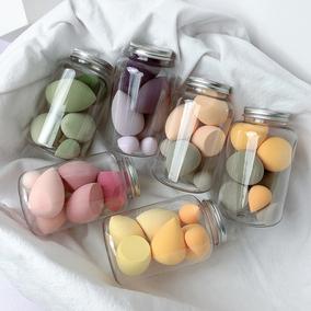 7只装美妆蘑菇头制海绵化妆蛋粉扑