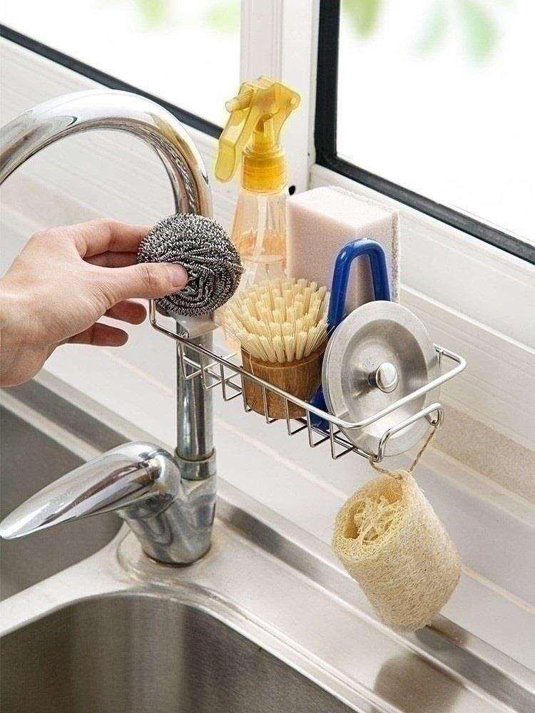 饭店简约欧式挂架抹布家用洗菜池日用品家庭用具厨房洗涤剂架收纳