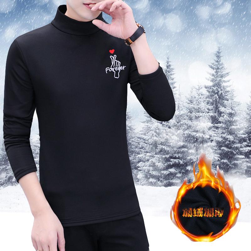 加绒保暖长袖t恤半高领青少年卫衣满89.00元可用59.1元优惠券