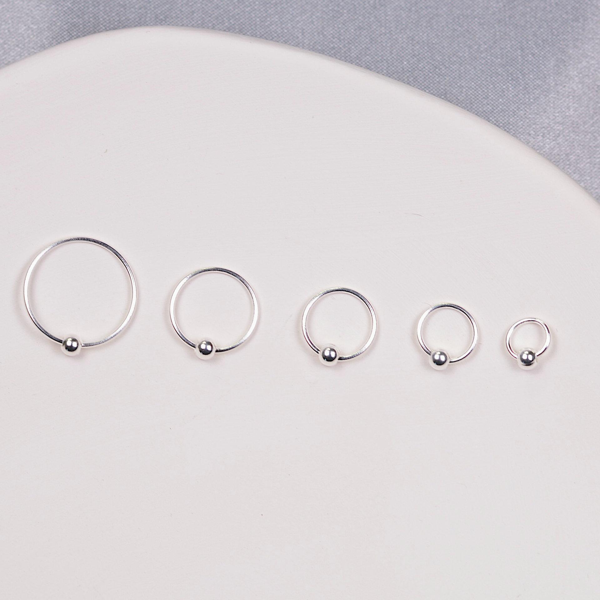韩国韩版简约个性圆形小圆珠耳圈女ins风学生款小巧可爱耳环饰品