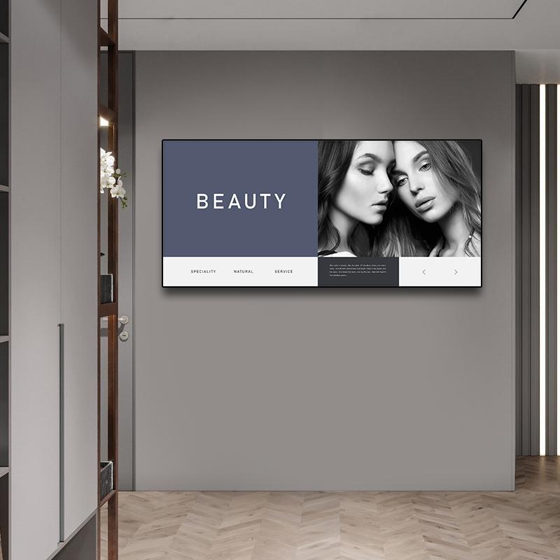 美容院创意黑白人物美女装饰宣传画