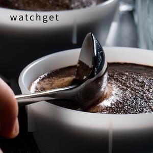watchget 专业杯测勺304不锈钢 镀钛黑 杯测勺匙 杯测勺收纳袋
