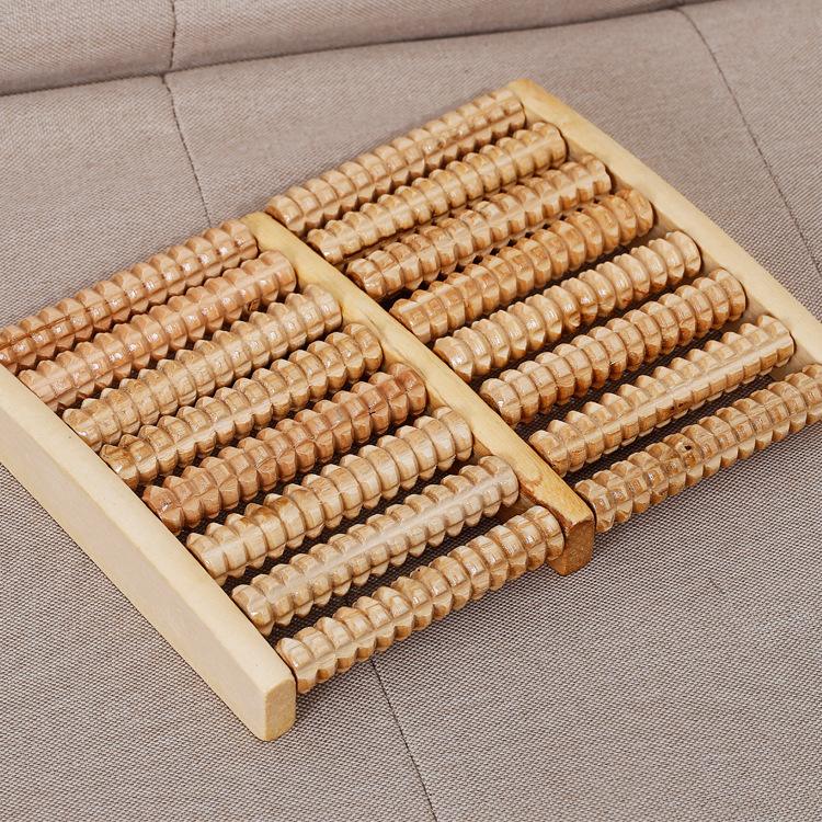 木质脚底按摩足疗机品13 送礼8排实木滚轮按摩器 工艺其他加