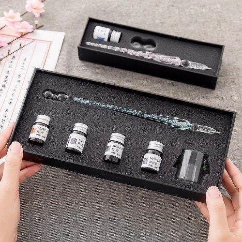 玻璃笔创意同学女朋友女孩生日礼物女生实用闺蜜男生女老师男朋友