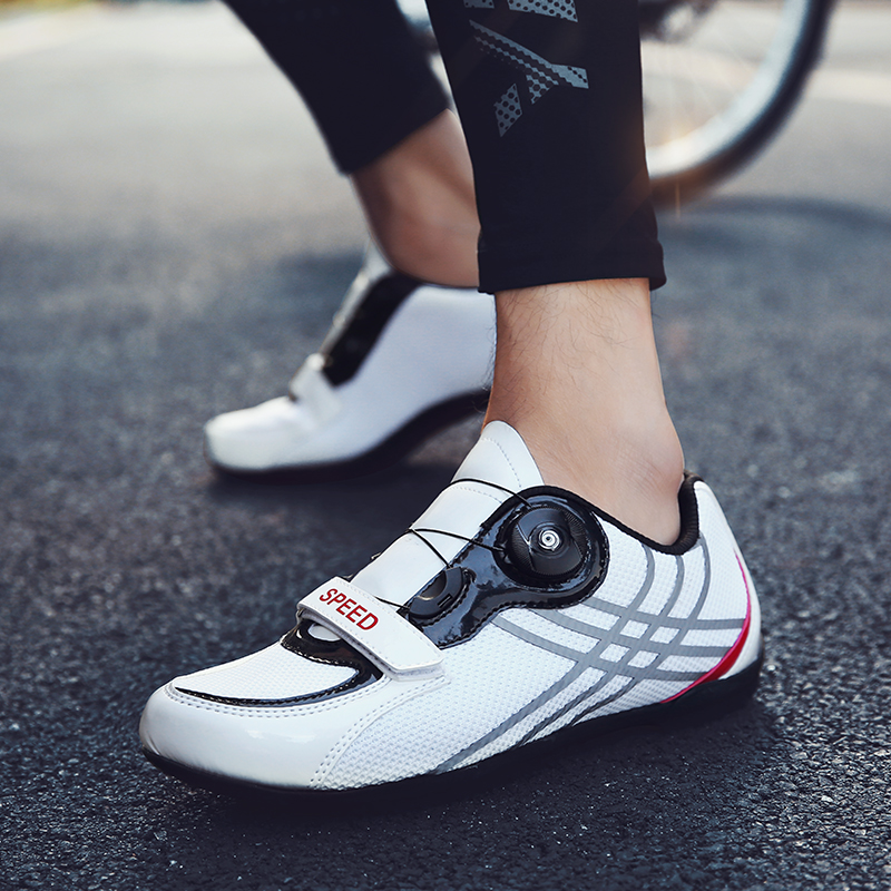 Summer leisure riding shoes mens and womens unlocked breathable cycling sports shoes road bicycle shoes mountain bike shoes