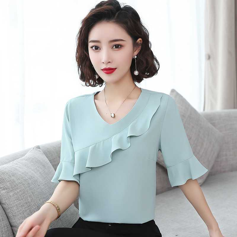 New 5 / 3 / 4 Sleeve Chiffon shirt in summer 2020