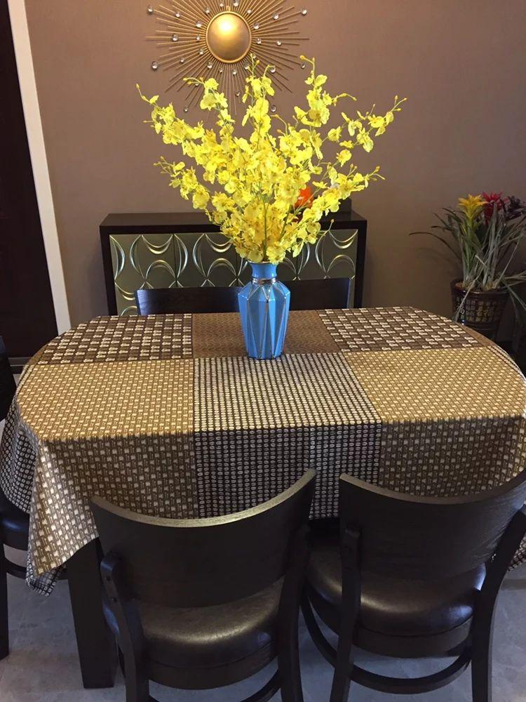 。日本式コットンテーブルクロスコーヒー色レストランテーブルクロス洋食テーブルクロスリビングテーブルテーブルテーブルテーブルテーブルテーブルテーブルクロス