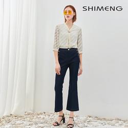 SKK6BZ005诗梦2020春夏新品牛仔喇叭裤