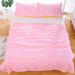 子单人儿童婴儿夏凉盖六层毛巾被纯棉纱布被毯双人夏季午睡小毯子价格