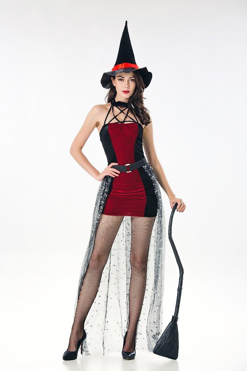 巫婆皇后化装舞会演出服cosplay吸血鬼白雪公主裙万圣节服装女