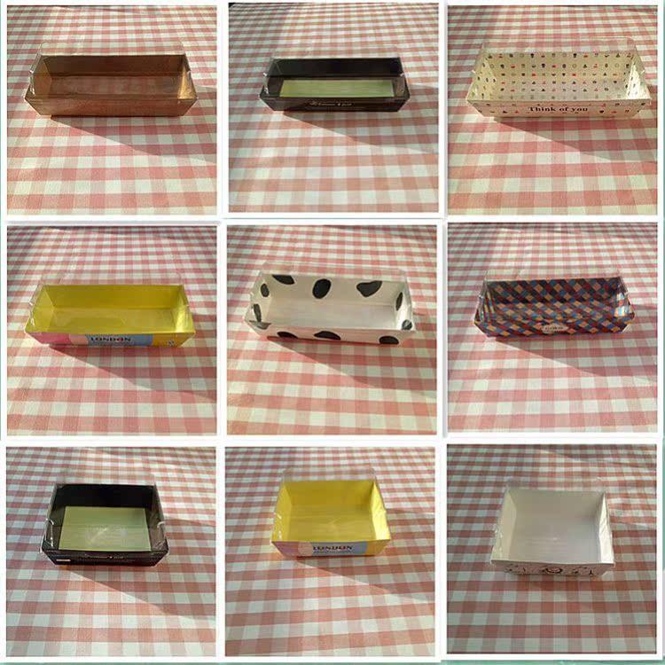 打包盒西点盒方盒三明治班戟餐包糕点打包面包盒创意蛋糕卷包装盒