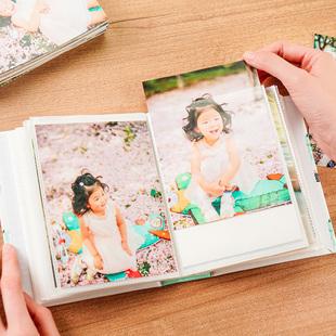 6寸大6寸过塑卡通插页式相簿diy洗照片做成相册本可爱100张相片