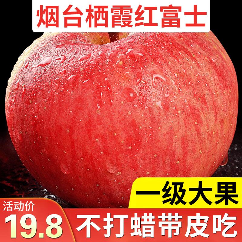 山东烟台苹果栖霞红富士精品助农带箱10斤一级水果新鲜当季整箱丑图片