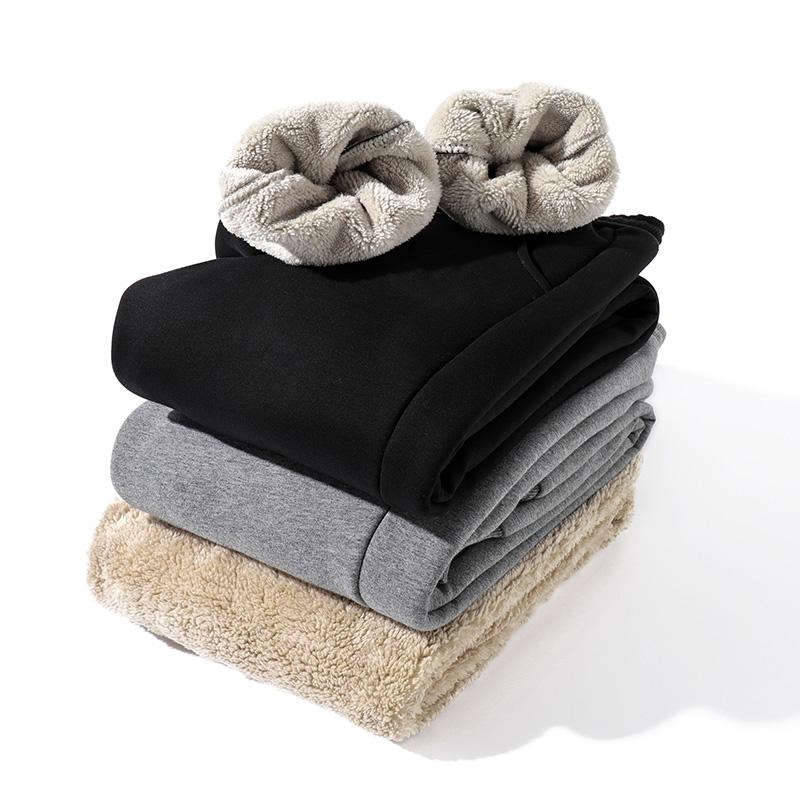 2020秋冬季男士休闲裤子羊羔绒加厚保暖收口卫裤金丝绒潮流运动裤