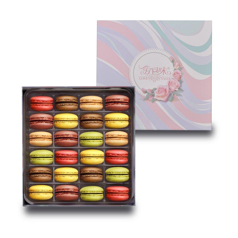 爱回味马卡龙甜点24枚240g6枚60g生日蛋糕小面包饼干糕点网红零食