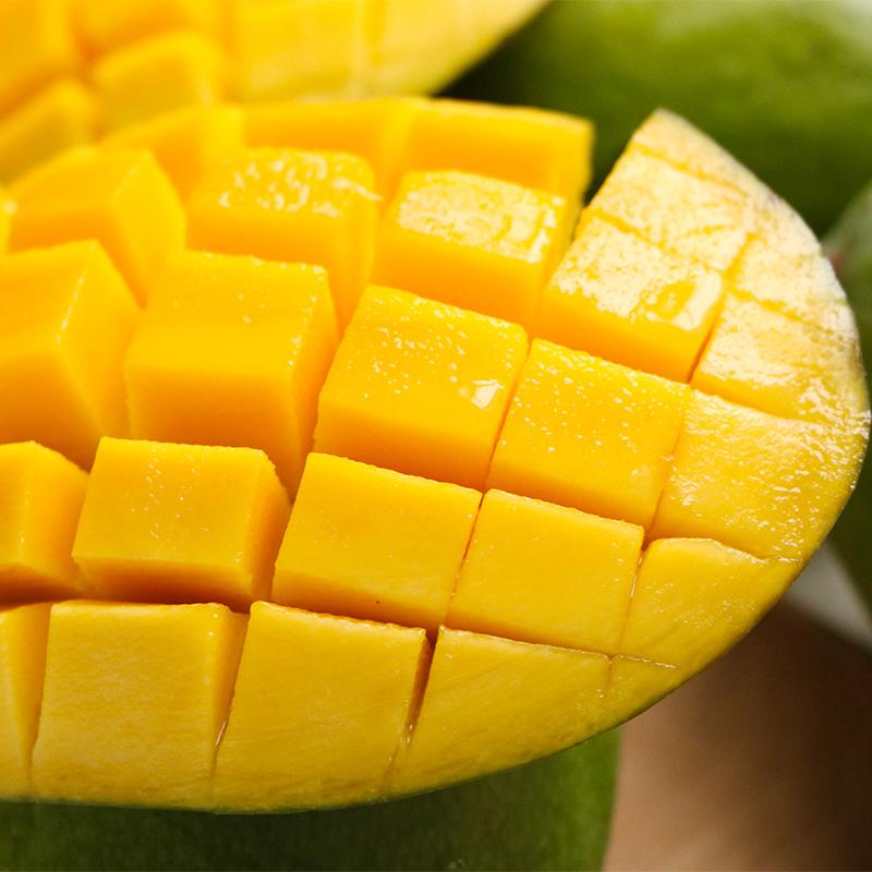 进口芒果新鲜青皮芒特大金煌多肉水果大芒果带箱9斤超大芒果包邮