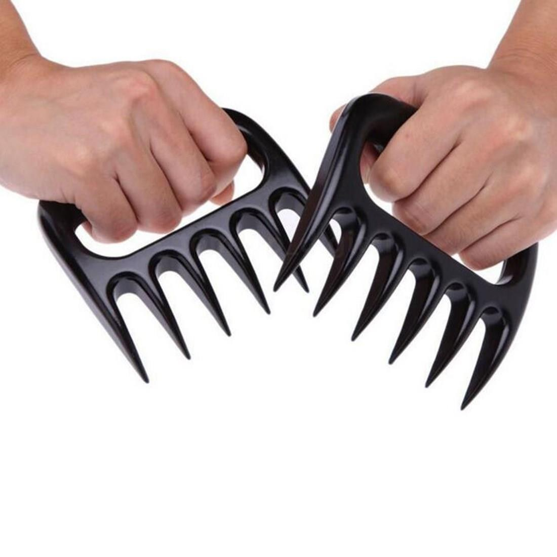 1Pair Bear Paws Claws Meat Handler Forks Tongs Pull Shred P