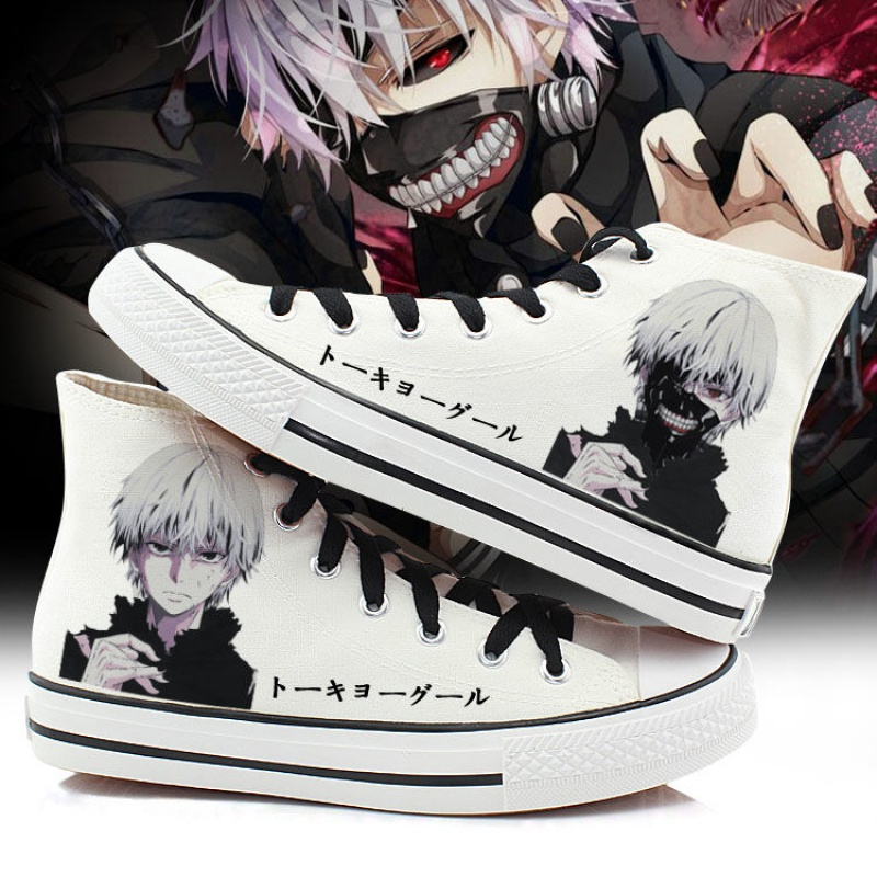Yovca Tokyo Ghoul high top canvas shoes for men and women