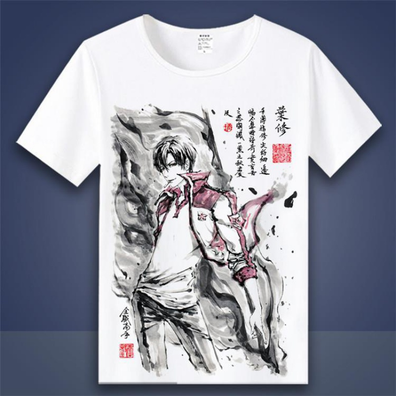 Summer eyes friends account Tokyo Ghoul silver soul REM clothes ink two dimensional peripheral animation short sleeve T-shirt