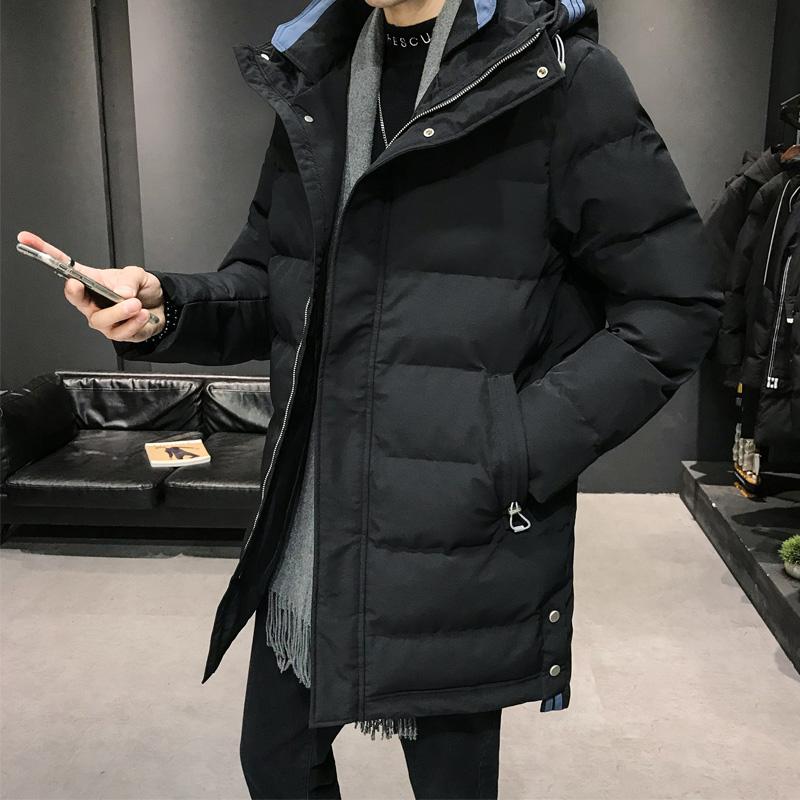 名策羽绒棉服男中长款冬季新款韩版连帽男装棉衣中青年外套潮流