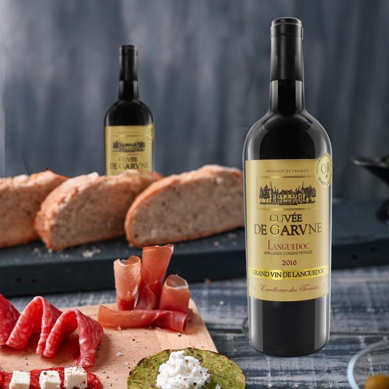 薇乐堡 法国骑士干红葡萄酒原装进口红酒AOC朗格多克特酿 单支装
