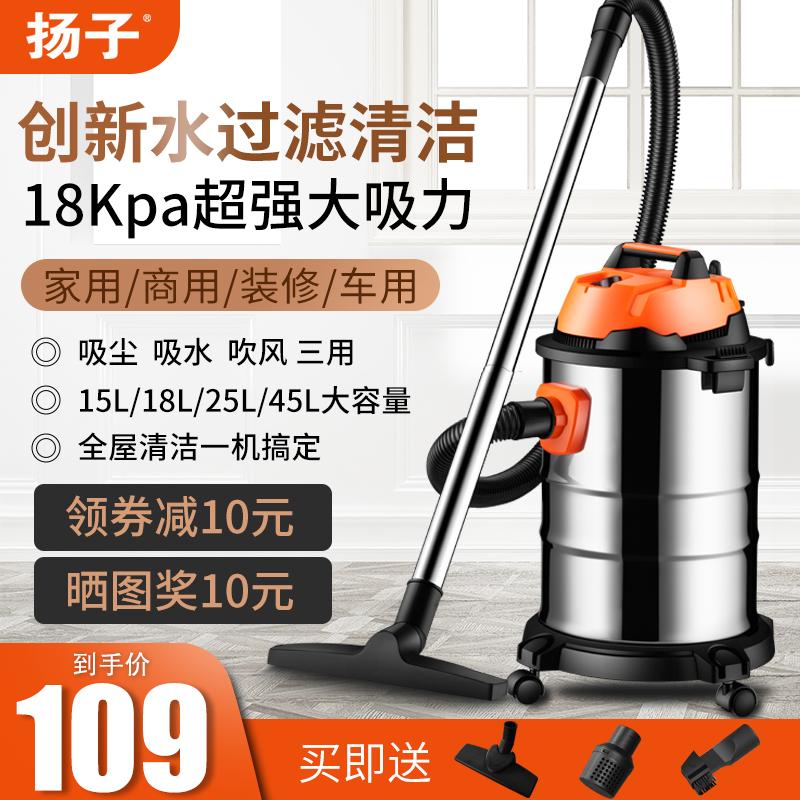 扬子吸尘器家用大吸力小型手持式干湿吹强力大功率除螨吸尘机工业淘宝优惠券