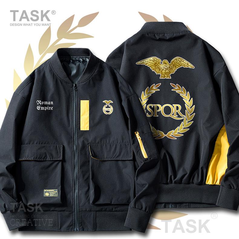TASK古罗马帝国Rome Empire历史文明SPQR薄款夹克男女潮工装外套