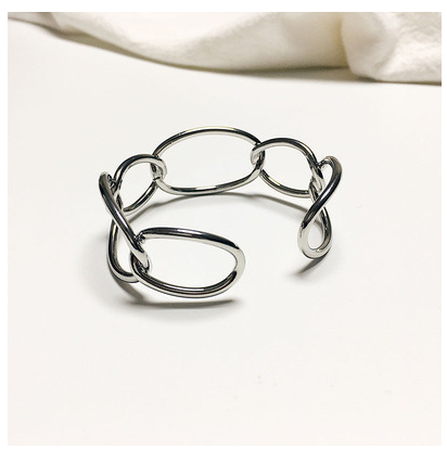 Exaggerated temperament hollow out wide Bracelet female Korean personality trendy Bracelet students versatile cuff decoration