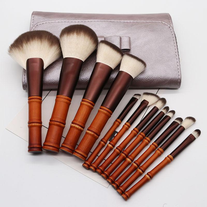 12 makeup brush sets, beginner powder, brush blush, eye shadow brush, super soft new animal, hair brush, makeup.