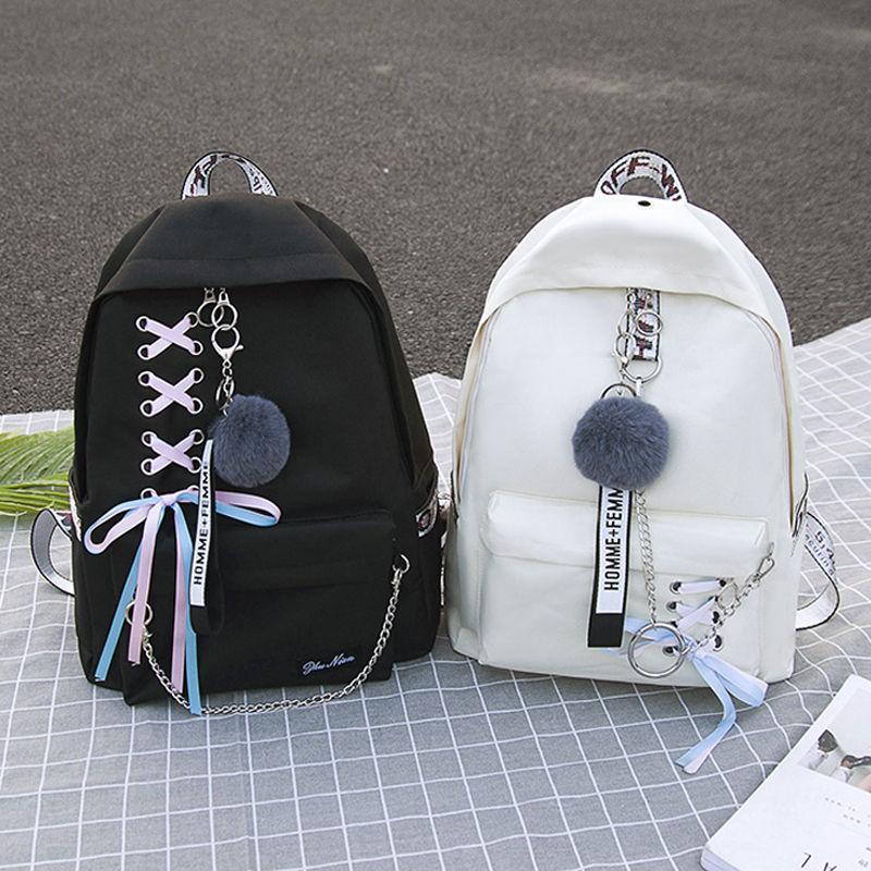 Double shoulder bag female 2018 new schoolbag female Korean version original residence ulzzang high school students backpacking Campus
