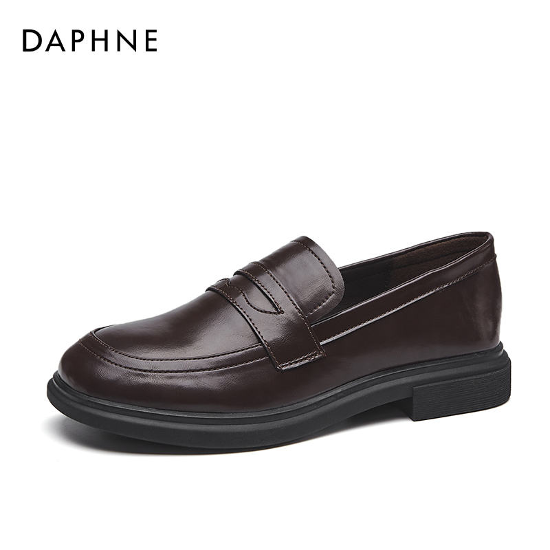 Daphne Yinglun wind small leather shoes female 2021 summer thin section spring and autumn music shoes JK shoes women's shoes spring single shoes