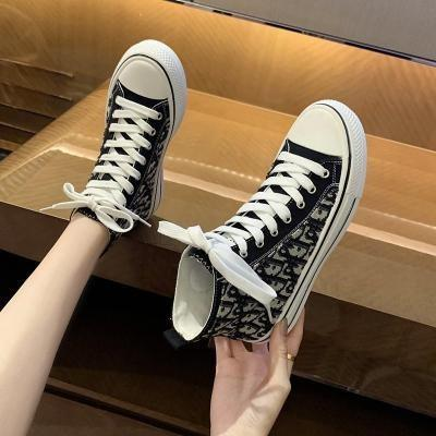 Tongou selects high top in summer and new pattern canvas shoes in autumn