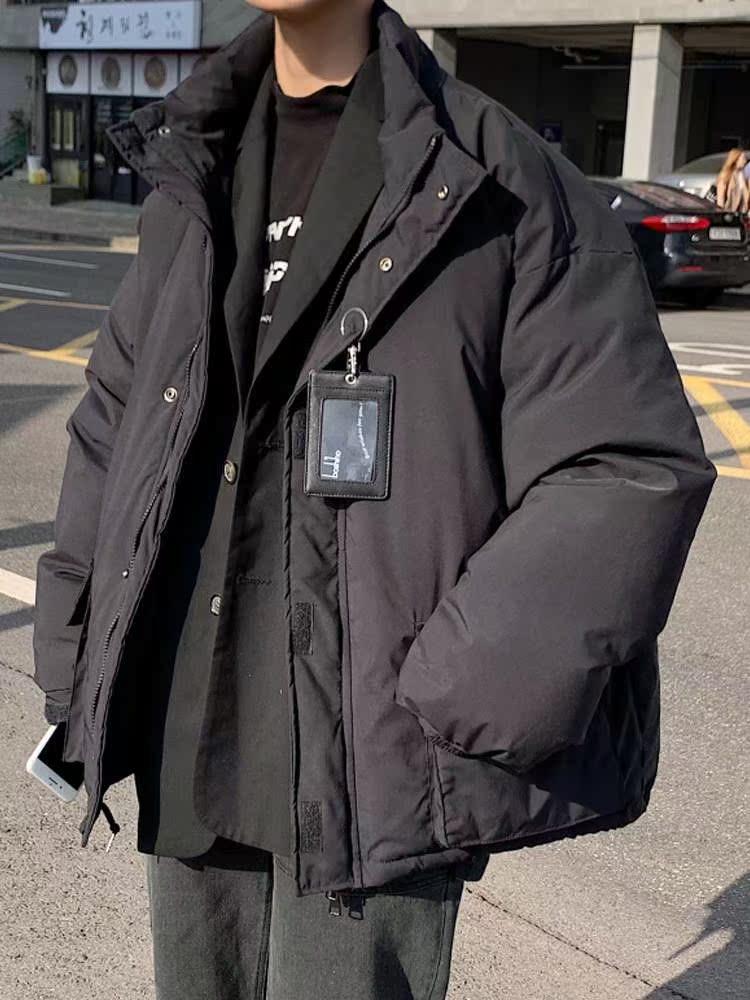 加厚工装面包服男宽松帅气原宿风男士冬季外套棉服潮牌ins潮棉衣