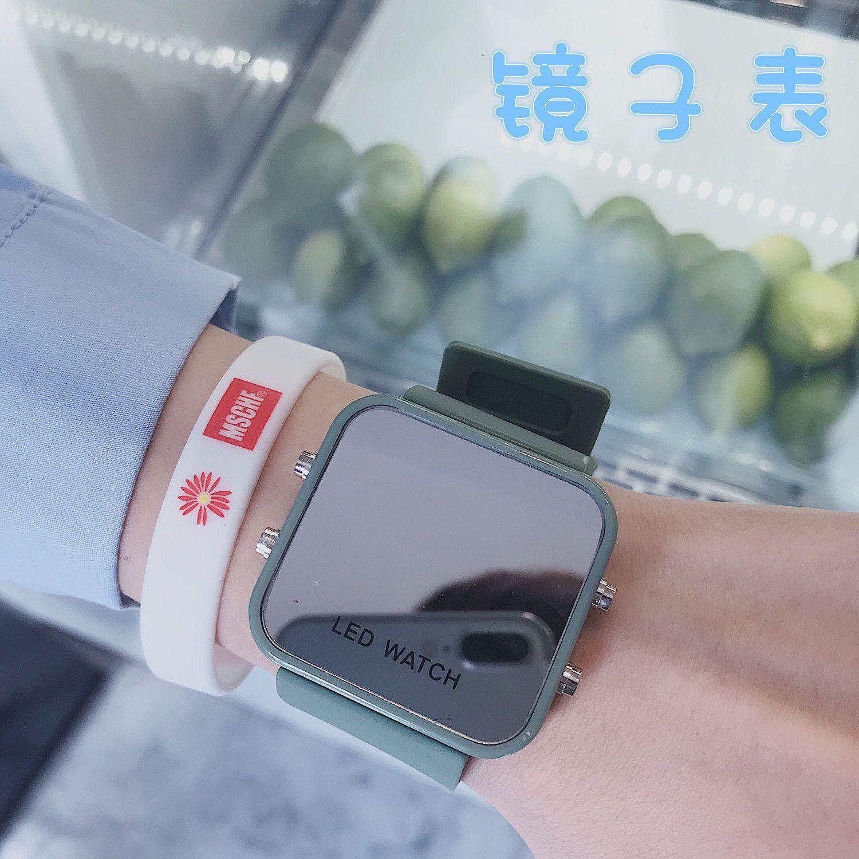 タオバオ仕入れ代行-ibuy99 智能手表 镜子手表女ins风简约气质初高中学生智能多功能运动跑步小众品牌