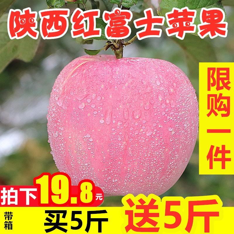苹果水果新鲜10斤当季批整箱正宗陕西冰糖心脆甜大丑5红富士苹果