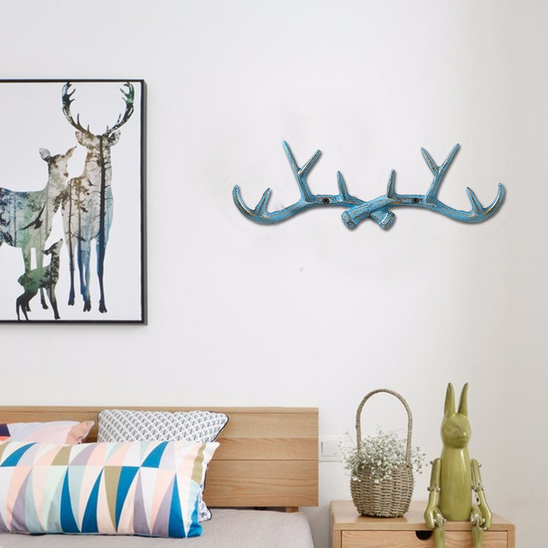 Iron antler hook creative metal clothes wall decoration hotel room bedroom living room porch Pendant