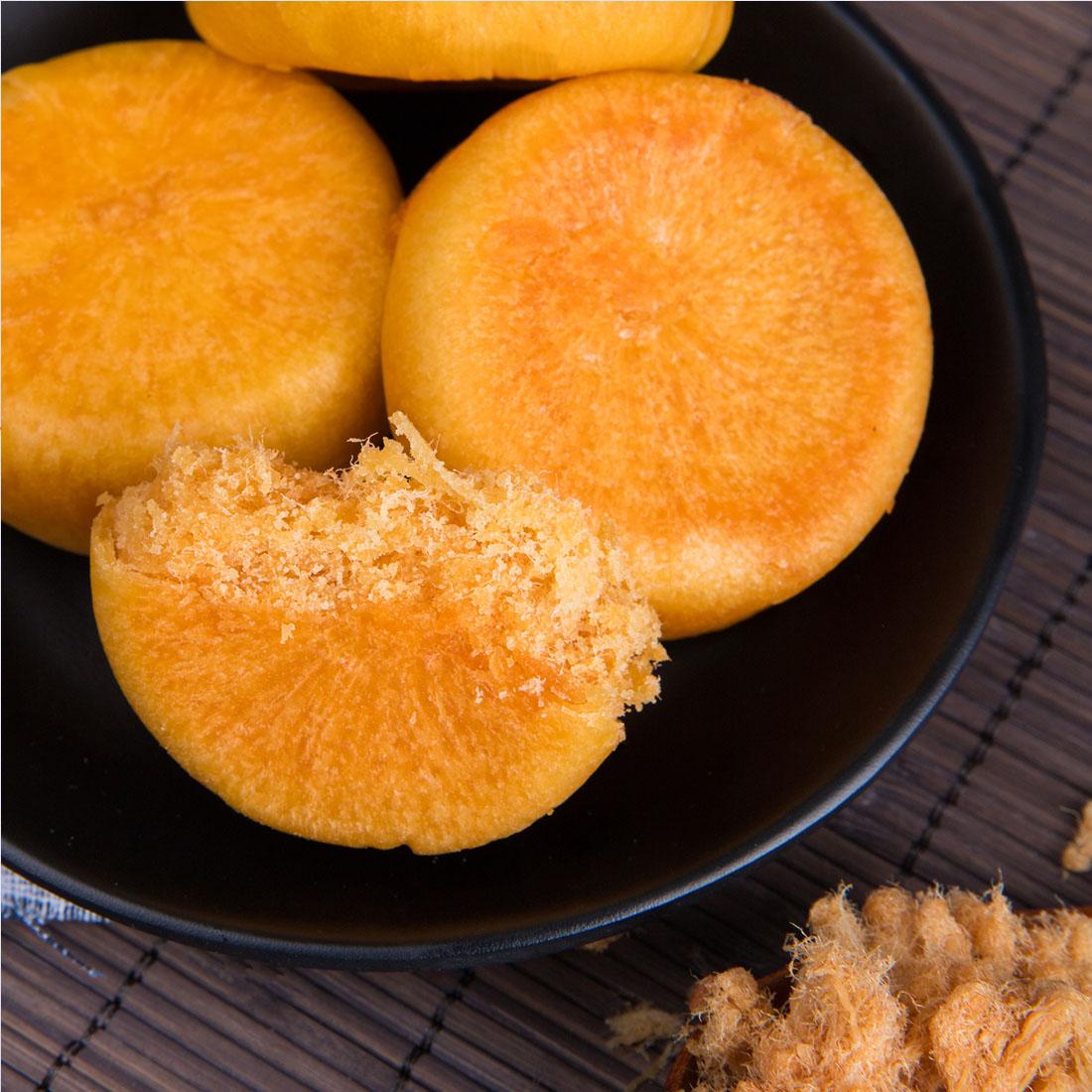 网红零食葛老头肉松饼十个约450g