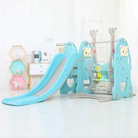 儿童室内三合一滑梯秋千组合家用多功能塑料玩具加厚加长海洋球池