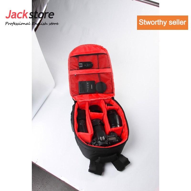 waterproof dslr slr camera lens backpack case bag for canon