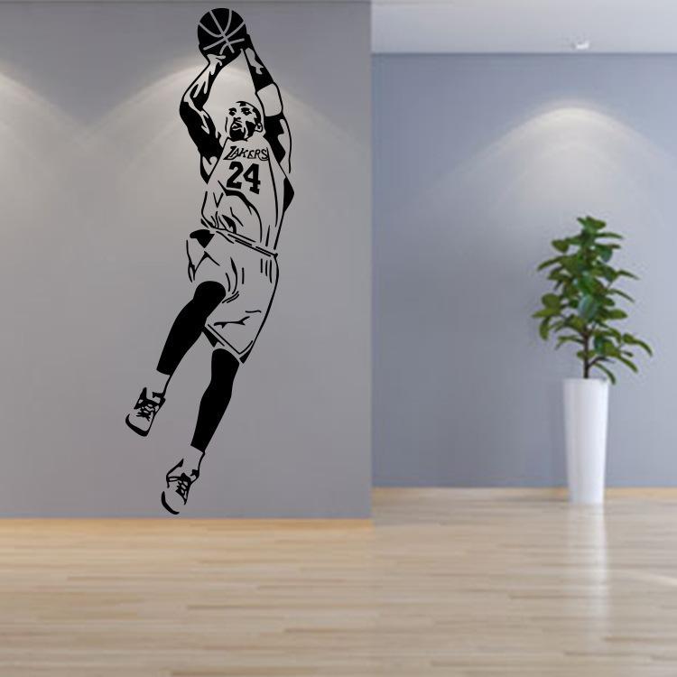 科比墙贴纸nba蓝球明星人物海报学生宿舍卧室背景墙装饰贴画球馆