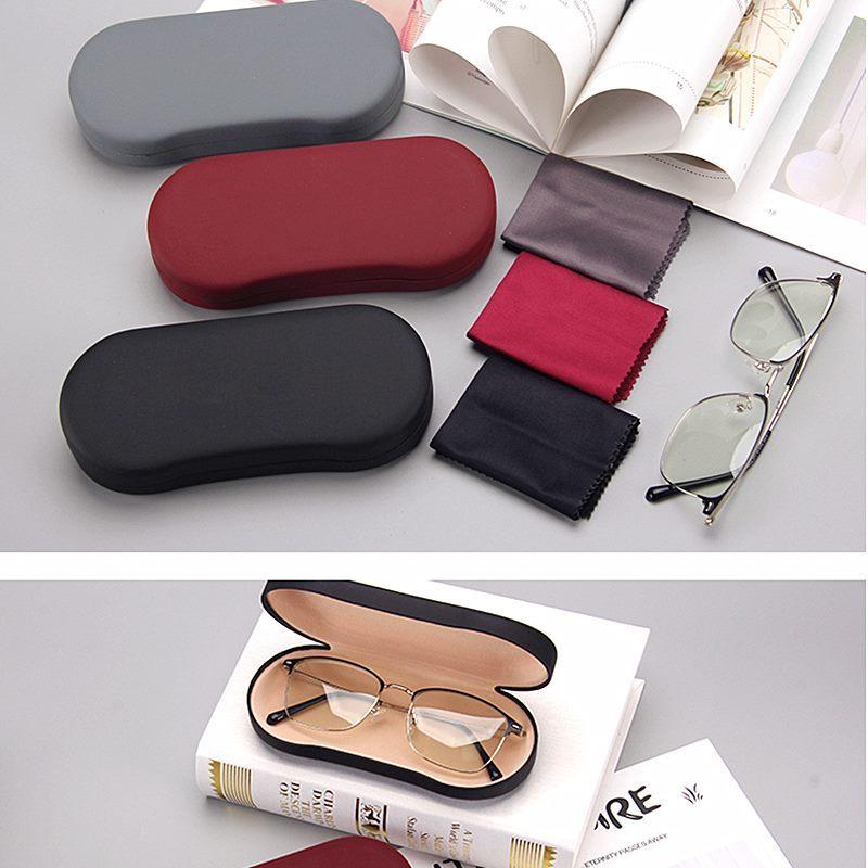 女款女士眼镜盒硬壳镜布老花镜红色墨镜轻巧可爱图案卡通眼镜布