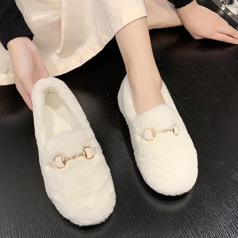 鞋子女韩版CHIC百搭简约休闲圆圆头浅口软平底芭蕾舞豆豆奶奶单鞋