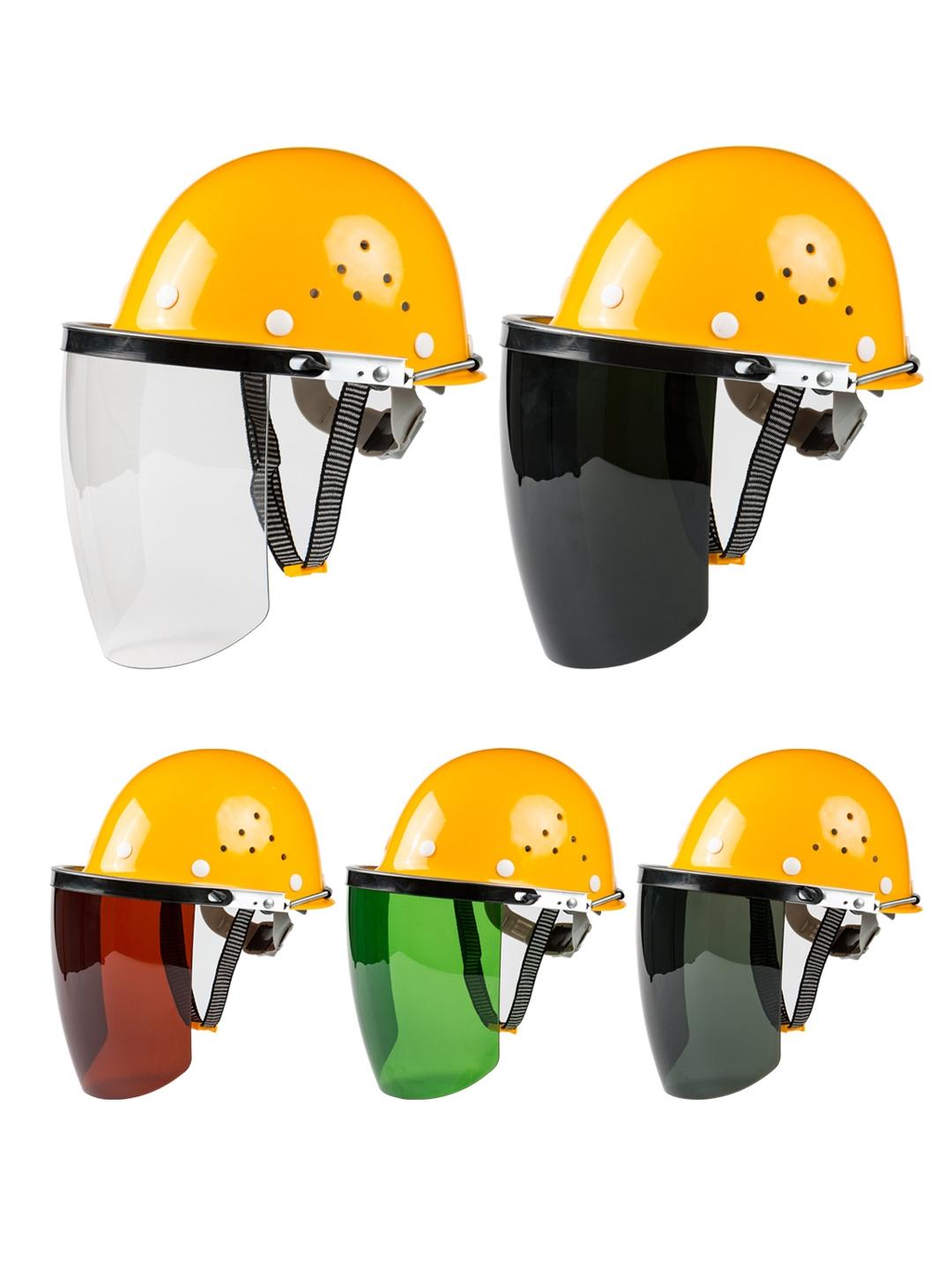 安全帽式电焊面罩烧焊工防护罩脸部面屏防飞溅打磨透明焊帽头戴式