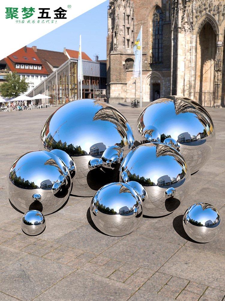 201不锈钢球空心球1.0mme厚精品镜面亮光装饰圆球围墙金属摆件浮