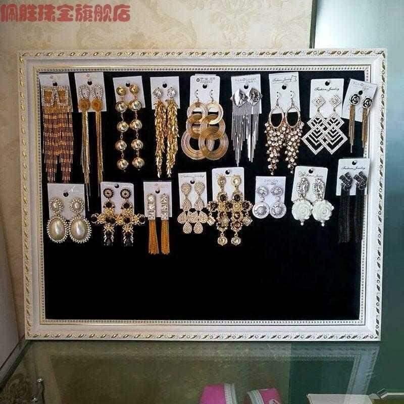 Hot selling Peisheng jewelry wall hanging Earrings background display board clothing store earrings earrings necklace jewelry flannelette