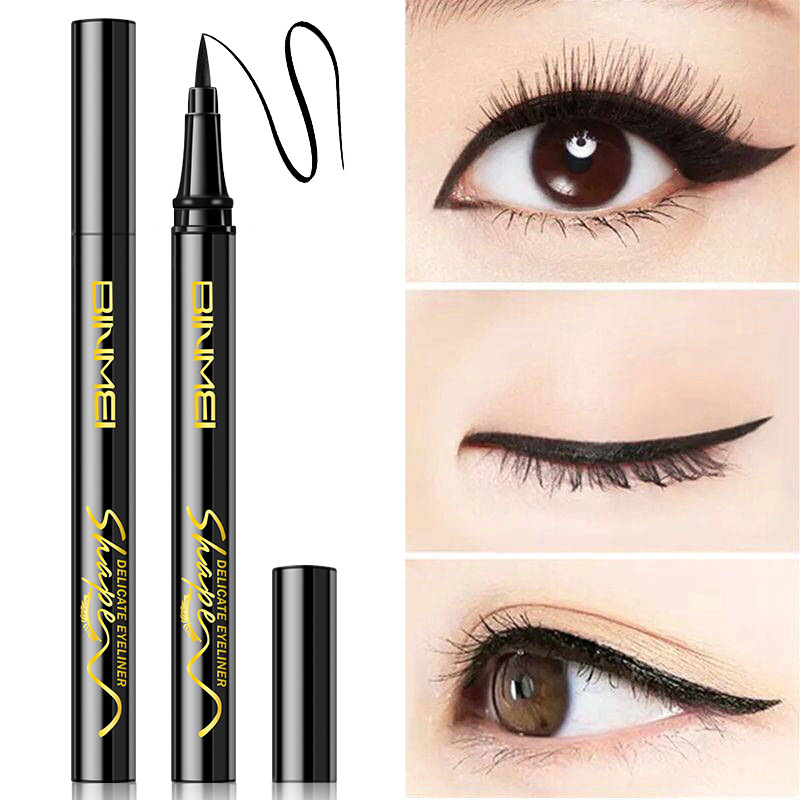 BB: three dimensional eyeliner pencil, water-soluble eye liner, waterproof, non staining, hard head, very fast, dry, bright, black eyeliner.