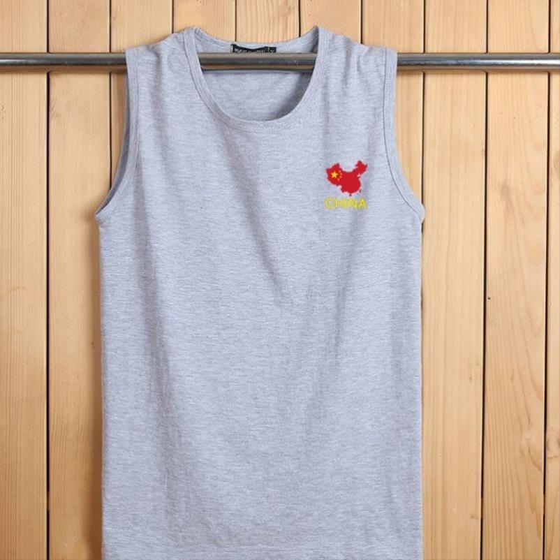 男士夏装新款棉马甲针织连帽开衫无袖T恤卫衣韩版潮健身运动背心